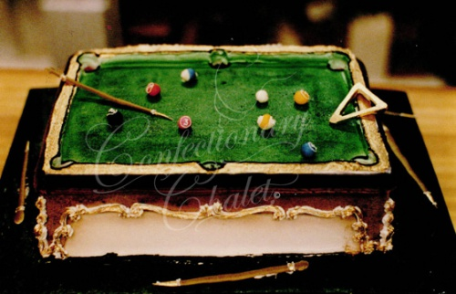 Pool Table Cake 1996