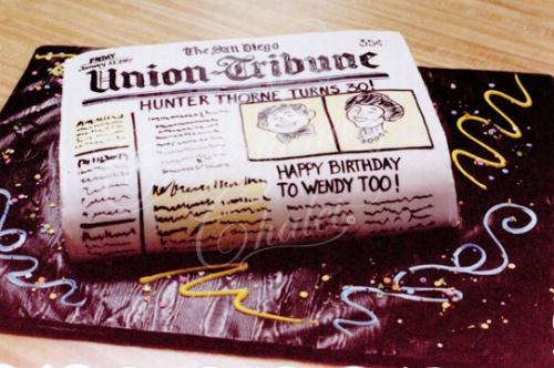 Newspaper Cake 1996