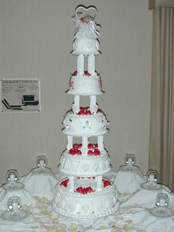 Elvis & Pricilla Presley Replica Wedding Cake - September 1998