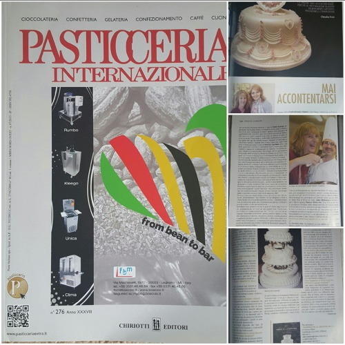 Kathleen Featured in the Italian Pastry Magazine - July 2015